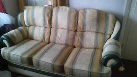 FREE - 3 seater sofa + 1 x armchair
