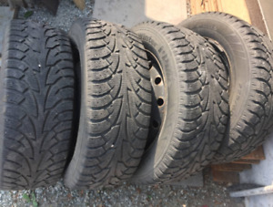 "Set of 16"" Snow Tires - Used 1 Year"