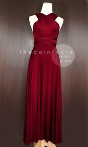 Daintyard Convertible Maxi Dress Bridesmaid Wine