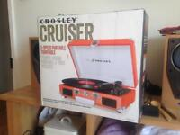 Crosley Cruiser - NEW - Portable Turntable / Vinyl Player / Record Player