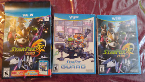 New Starfox and new mario tennis for trade wii u