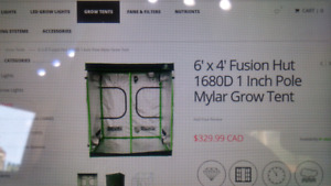 Mylar grow tent with complete kit