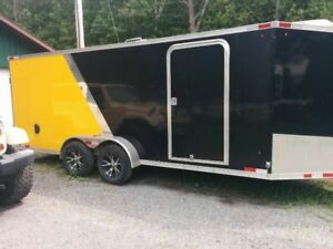 All Aluminum Enclosed Drive in Drive out trailer