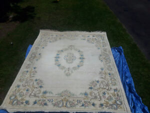 """8 x 10 One-of-a-kind """"Super Rajput"""" Decorator Rug -Made in India"""