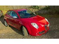 2009 Alfa Romeo Mito Veloce T 120 1.4 Red 3 Door H/back. MOT March 2018.