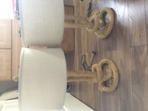 2 lampes en corde