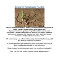 Research Participants Needed!