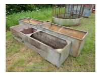 GALVANISED WATER TROUGHS-PLANTERS