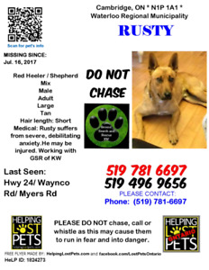 Please keep your eyes open for Rusty