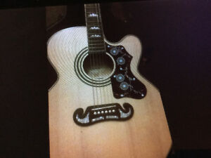 epiphone acccoustic guitar with hard shell case