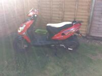 125cc moped white knuckle 2013