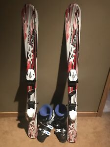 Kids Downhill skis, boots and bindings