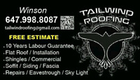 Tailwind Roofing✭ High Quality ✮ Free Estimate