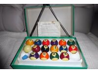 Monarch Pool Balls, size 44.5mm, with Triangle and Instructions, Histon