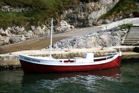 Boat for sale. 23ft double ender. Lister SR3 engine.