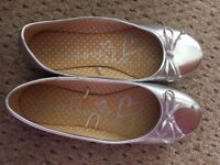 2 pairs of silver girls shoes from Next and TU