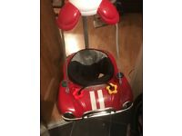 Babylon car door bouncer in red with lights and sounds