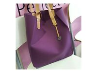 NEW Fablou ladies bag tote luxurious silicone purple RRP £80 sell £55 Dunfermline