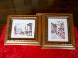 2 framed painting from Europe
