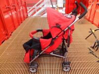 tippitoes push chair red/black