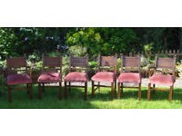 SET OF 6 ANTIQUE DINING CHAIRS INCLUDING 2 CARVERS - EARLY 20th CENTURY