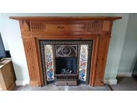 Cast iron inner surround and Pine surround