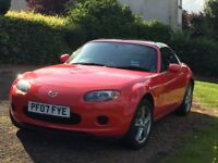 MAZDA MX5 2007 1.8 ONLY 45,000 Miles MOT till 06/18 with additional BLACK HARD TOP