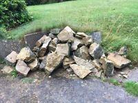 Rocks for drystone wall/ rockery/garden border etc