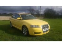SEPT 2006 AUDI A3 2.0 TDI SE 140 BHP..MOTED TO MAY 2018..POSSIBLE PART EXCHANGE.CREDIT CARD ACCEPTED