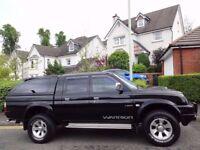 (2005) MITSUBISHI L200 WARRIOR LWB 2.5 TD Facelift Model CANOPY/LEATHER/GENUINE 50K MILES/FSH/NO VAT