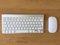 Apple Wireless Bluetooth Magic Mouse & Keyboard - Good Condition