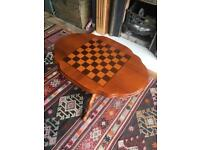 Antique Chess Coffee Table