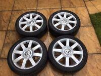 "17"" Volkswagen 5x112 Alloys with Tyres"
