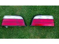 BMW E36 Coupe clear rear lights