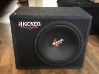 Kicker subwoofer with amp