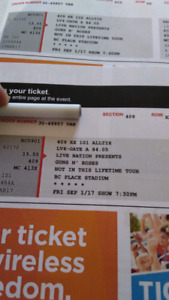 2 Guns and Roses tickets sept 1st
