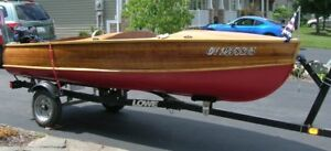 1957 nipissing restored cedar strip boat