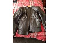 Ladies black leather jacket and trousers