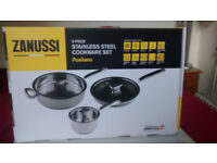 Zanussi Pan Set Stainless Steel - Top Quality