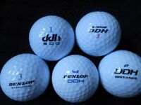 100 Dunlop Mixed Model Golf Balls - Pearl Condition