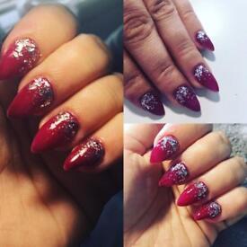 Nail technician acrylic nails / gel polish