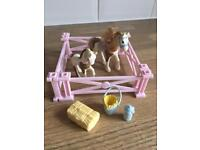 Vintage littlest pet shop pony set
