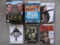 6 tv detective sets - Lewis, Special Branch, Chinese Detective, Public Eye, Adam Adamant, XYY Man