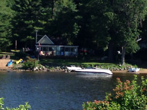 Waterfront 3 Bedroom Winterized Cottage for rent, Norway Bay, QC