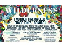 2x WILDERNESS FESTIVAL TICKETS!! General Camping