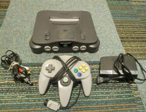 Nintendo 64 N64 Console & Hookups