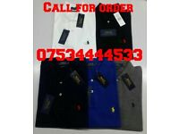 MENS RALPH LAUREN, HUGO BOSS, FRED PERRY, STONE ISLAND, ARMANI, LACOSTE, CK POLOS AND TEES