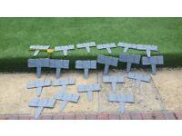 Plastic Hammer in Lawn Edgeing x 20