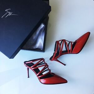 Giuseppe Zanotti Strappy Leather Pumps Size 36