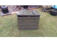 Green Aluminium Ex Army transport secure box/case